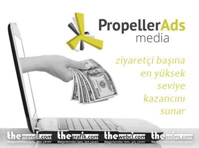 propeller ads ile görüntüleme başı para